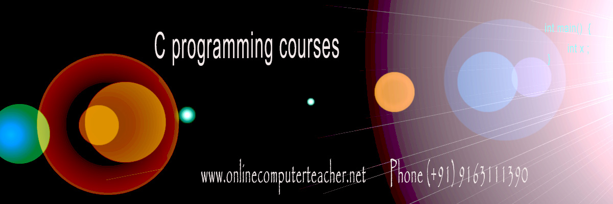 C programming courses, C tutors in Kolkata, C online tutors