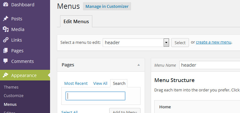 Remove Manage Locations Tab in WP dashboard