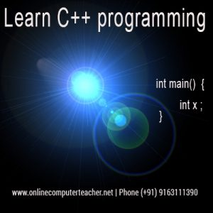 C++ courses in Kolkata, C++ online courses online tutors
