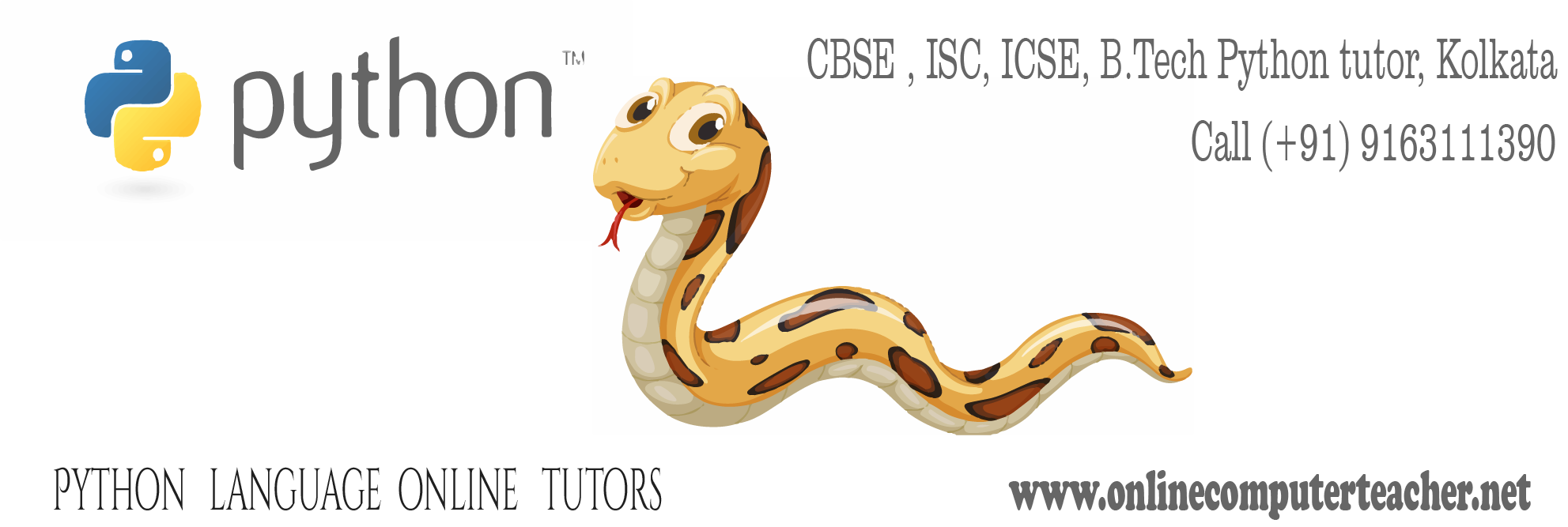 Python tutor Kolkata, Computer Science CBSE tutor onlinecomputerteacher.net