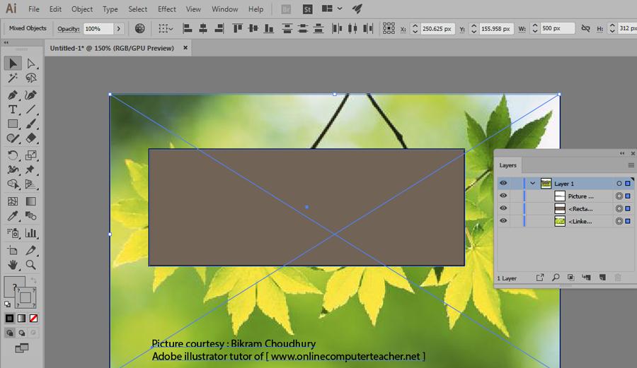 2b) Clipping Mask in Adobe illustrator