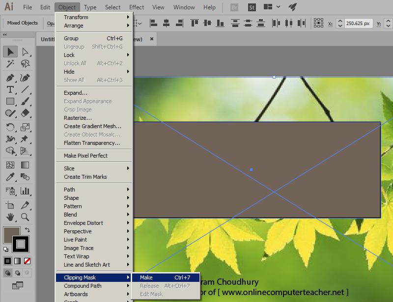 2c) Clipping Mask in Adobe illustrator