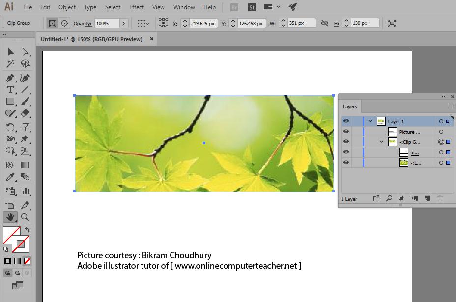 2d) Clipping Mask result in Adobe illustrator
