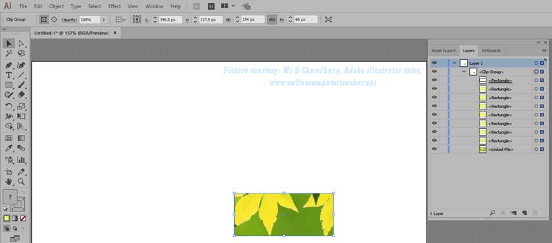 7) Clipping Mask in Adobe illustrator