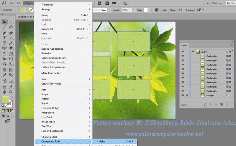 8) Clipping Mask in Adobe illustrator