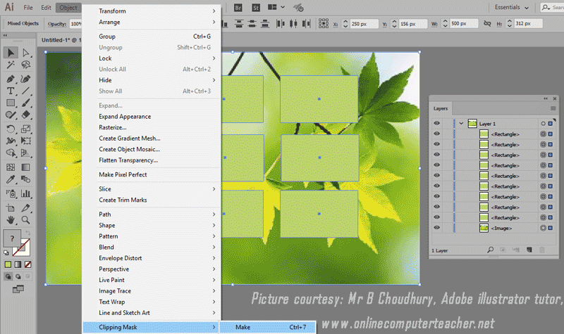 9) Clipping Mask in Adobe illustrator