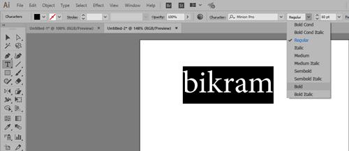 Type text in Adobe Ai illustrator (onlinecomputerteacher.net)