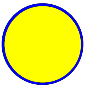draw two concentric circles using CSS